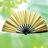 四维金色太极扇(竹子)