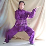武极堂品牌太极服 太极服装 太极表演服(葡萄紫)