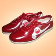 武极堂牛皮太极鞋 太极练功鞋 红色(银长箭款)-需预定