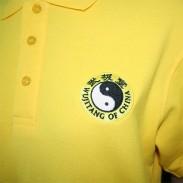 翻领香蕉黄纯棉短袖太极拳T恤衫 刺绣太极标新品推荐【已下架】