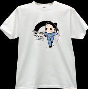 2012新款武极堂品牌白色太极剑【御剑探海】主题T恤衫展示【已下架】