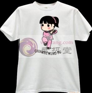 2012新款武极堂品牌白色功夫女孩【以柔克刚】主题T恤衫主题展示【已下架】