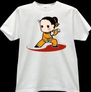 2012新款武极堂品牌白色功夫男孩【气定神闲】主题T恤衫主题展示【已下架】