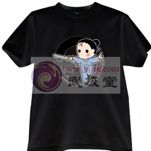 2012新款武极堂品牌黑色太极剑【御剑探海】主题T恤衫展示【已下架】