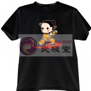 2012新款武极堂品牌黑色功夫男孩【气定神闲】主题T恤衫主题展示【已下架】