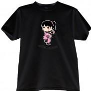 2012新款武极堂品牌黑色功夫女孩【以柔克刚】主题T恤衫主题展示【已下架】