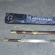 沈广隆杨氏太极刀 不锈钢 实木 标准太极刀 龙泉产 未开刃