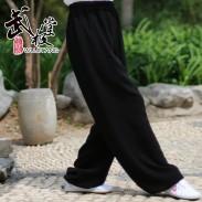 新麻纱太极裤练功裤夏季黑色