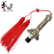加重伸缩太极剑 不锈钢 锡合金手柄 晨练太极伸缩剑 武极堂
