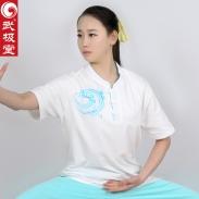 武极堂祥云T恤丝光棉立领刺绣
